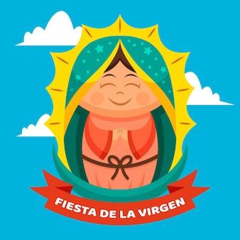 Płaska fiesta de la virgen