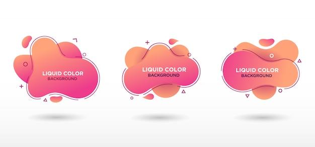 Płaska geometryczna forma cieczy z gradientowymi kolorami.
