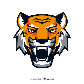Płaska głowa tygrysa