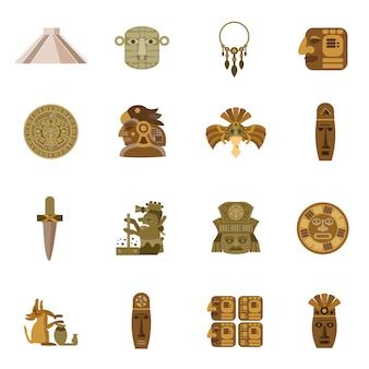 Płaska ikona maya