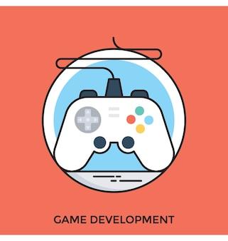 Płaska ikona rozwoju gry