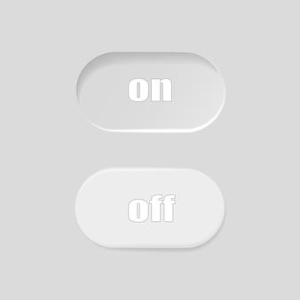 Płaska ikona włączanie i wyłączanie przełącz format wektorowy przycisku przełącznika