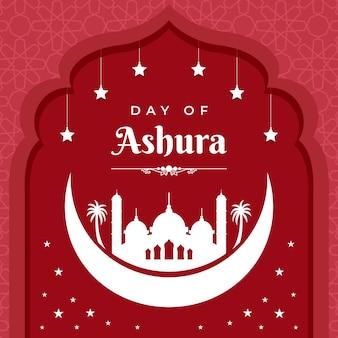 Płaska ilustracja ashury