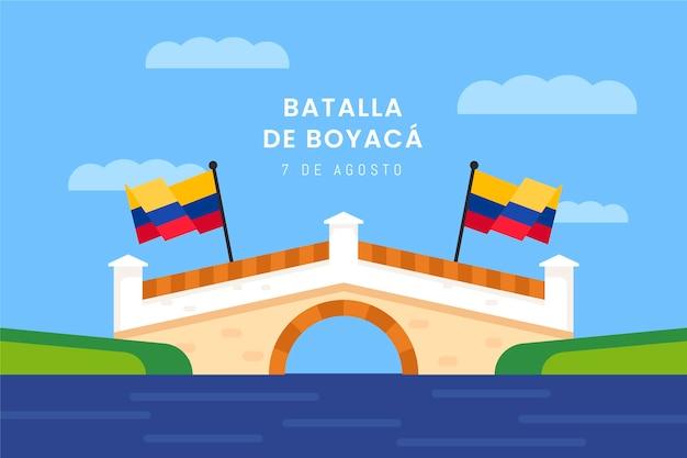 Płaska ilustracja batalla de boyaca