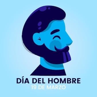 Płaska ilustracja dia del hombre