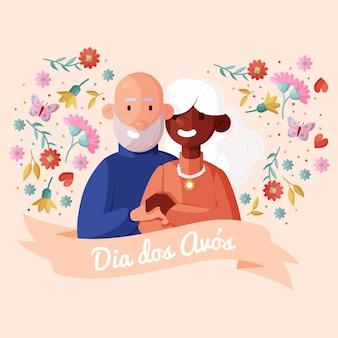 Płaska ilustracja dia dos avos