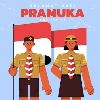 Płaska ilustracja dnia pramuka