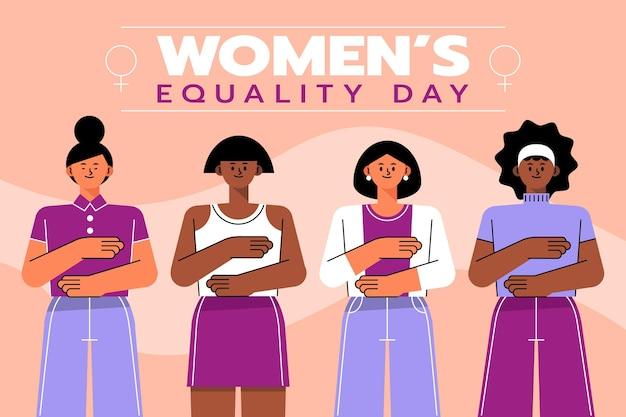 Płaska Ilustracja Dnia Równości Kobiet Darmowych Wektorów