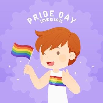 Płaska ilustracja dzień dumy