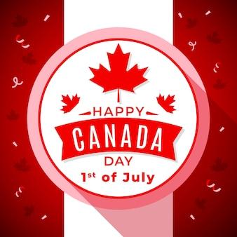 Płaska ilustracja dzień kanady