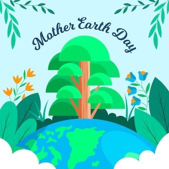 Płaska ilustracja dzień matki ziemi