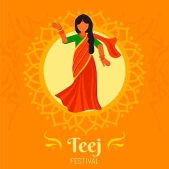 Płaska ilustracja festiwalu teej