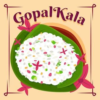 Płaska ilustracja gopalkala