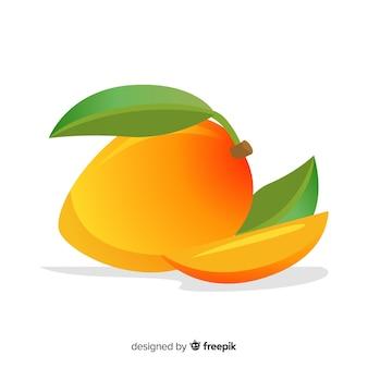Płaska ilustracja mango