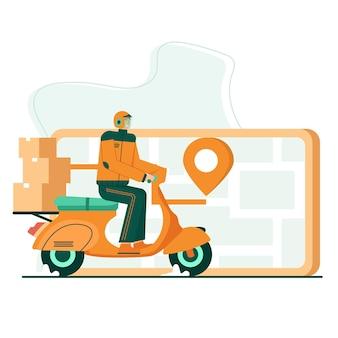 Płaska ilustracja pakietu śledzenia