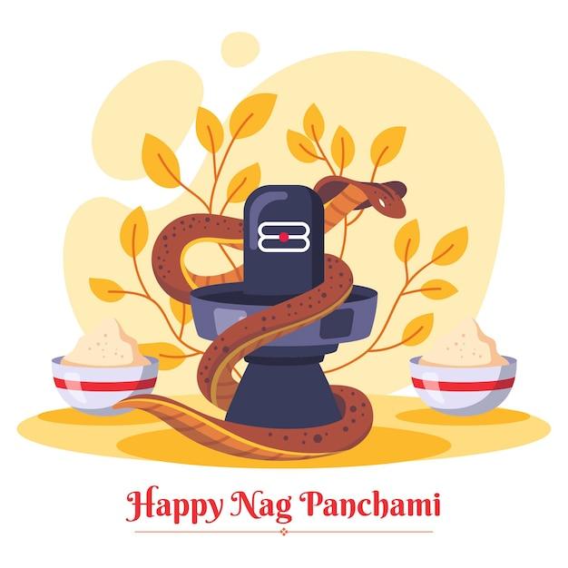 Płaska ilustracja panchami nag