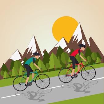 Płaska ilustracja roweru lifesyle