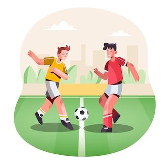 Płaska ilustracja sportów dla dzieci