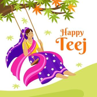 Płaska ilustracja uroczystości festiwalu teej