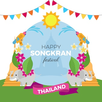 Płaska impreza festiwalu songkran