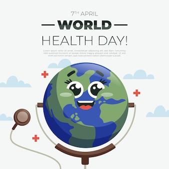 Płaska impreza z okazji światowego dnia zdrowia