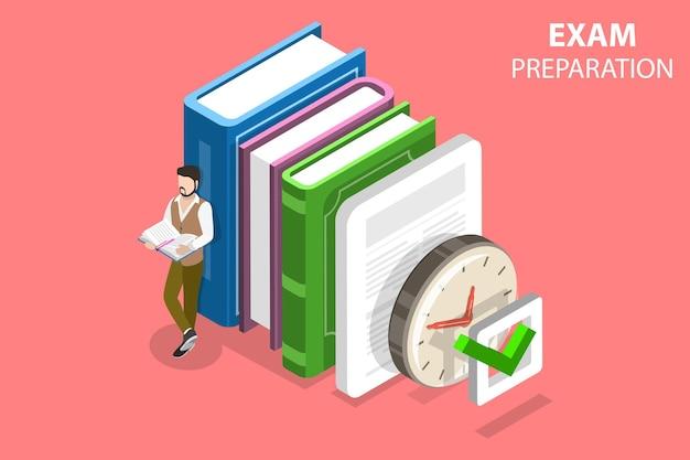 Płaska izometryczna koncepcja przygotowania do egzaminu