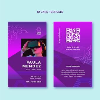 Płaska karta identyfikacyjna minimalna technologia