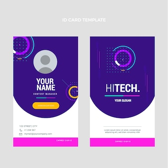 Płaska karta identyfikacyjna minimalnej technologii