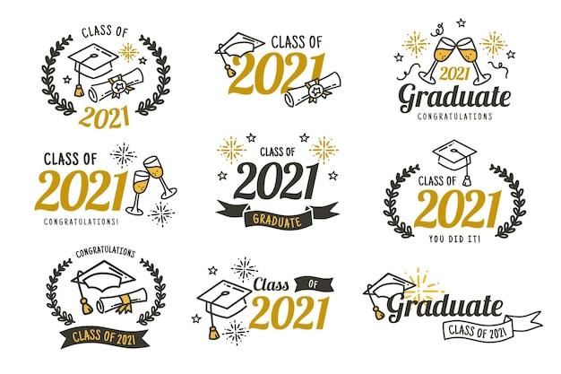 Płaska klasa kolekcji odznak 2021