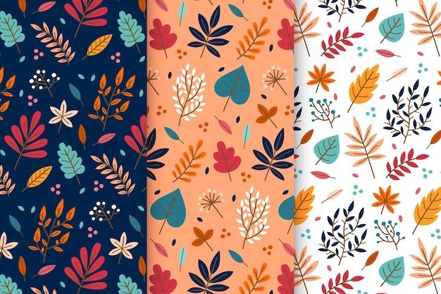 Płaska kolekcja jesień wzór