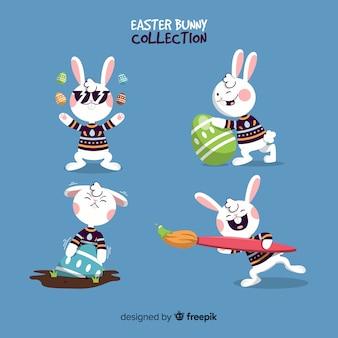 Płaska kolekcja króliczek wielkanocny