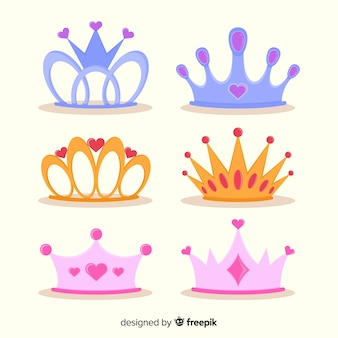 Płaska kolekcja księżniczki tiara