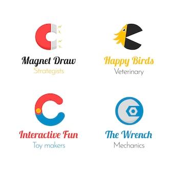 Płaska kolekcja logo c