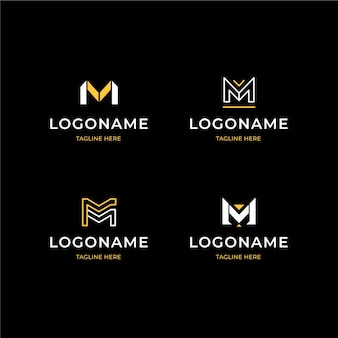Płaska kolekcja logo m