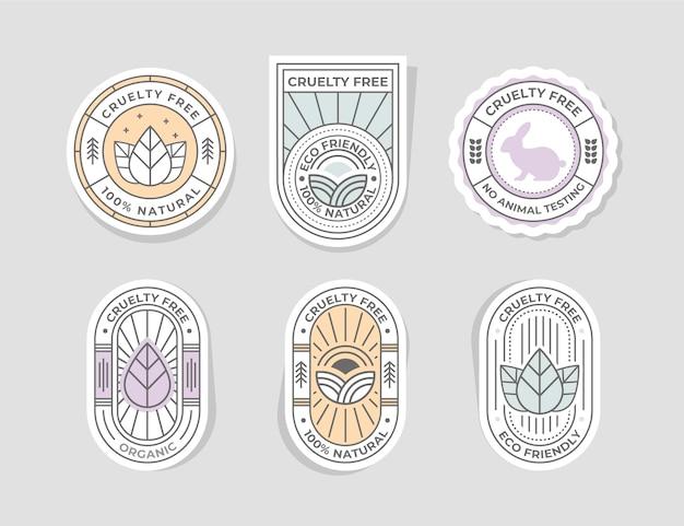 Płaska kolekcja odznak bez okrucieństwa