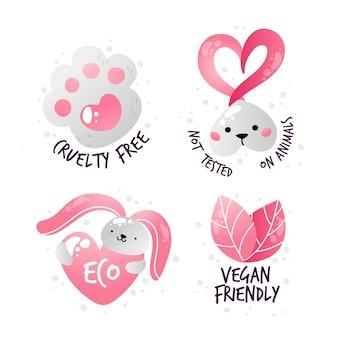 Płaska kolekcja odznak cruelty free