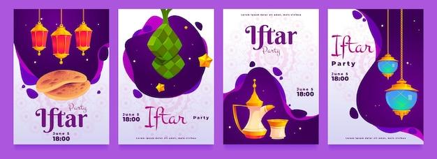 Płaska kolekcja opowiadań iftar na instagramie