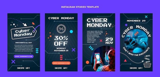 Płaska kolekcja opowiadań na instagramie w cyber poniedziałek
