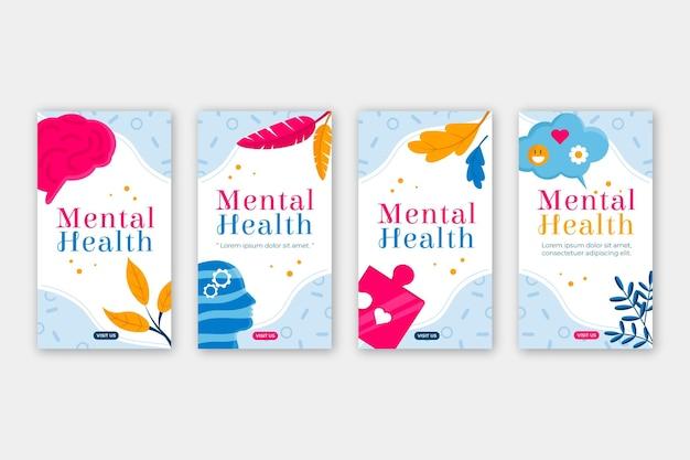 Płaska kolekcja opowiadań o zdrowiu psychicznym na instagramie