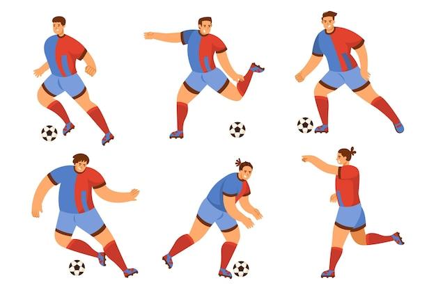 Płaska kolekcja piłkarzy