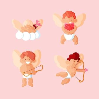 Płaska kolekcja postaci amora