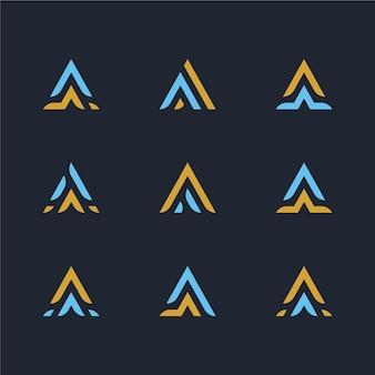 Płaska kolekcja szablonów logo