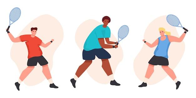 Płaska kolekcja tenisistów