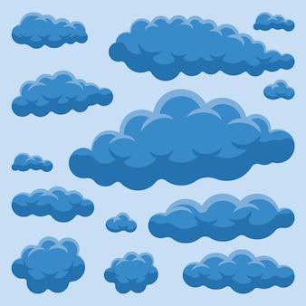 Płaska kolekcja w chmurze
