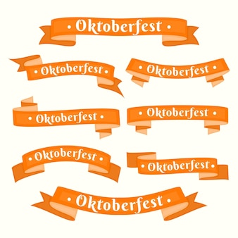Płaska kolekcja wstążek oktoberfest