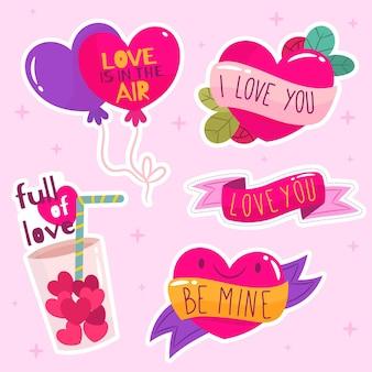 Płaska kolorowa kolekcja miłości