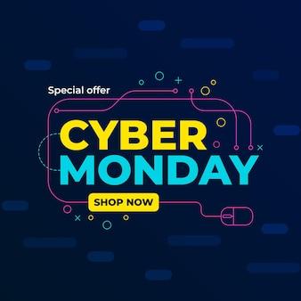 Płaska koncepcja cyber poniedziałek