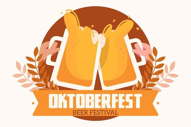Płaska koncepcja festiwalu oktoberfest