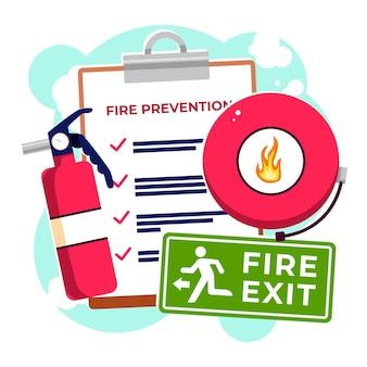 Płaska koncepcja ochrony przeciwpożarowej