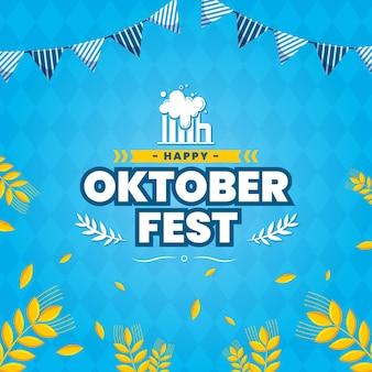 Płaska koncepcja oktoberfest